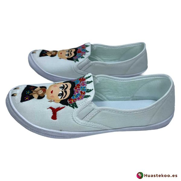 Zapatos mexicanos pintados a mano modelo Frida de la tienda mexicana online Huastekoo España - H00014 - 2