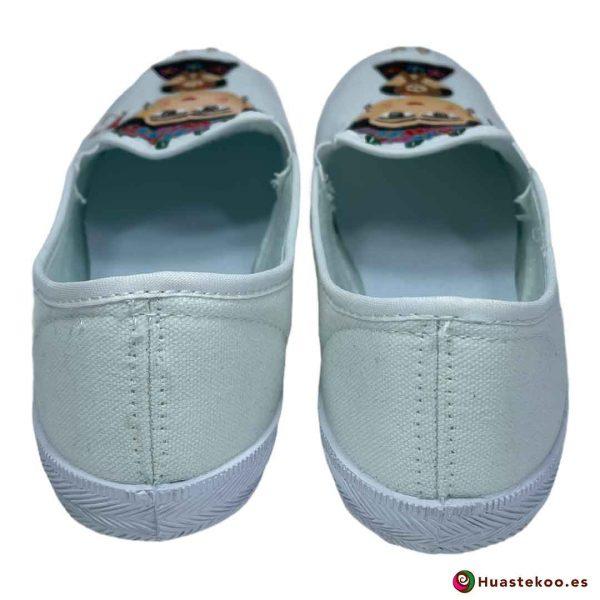 Zapatos mexicanos pintados a mano modelo Frida de la tienda mexicana online Huastekoo España - H00014 - 3