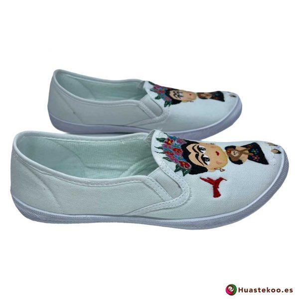 Zapatos mexicanos pintados a mano modelo Frida de la tienda mexicana online Huastekoo España - H00014 - 4