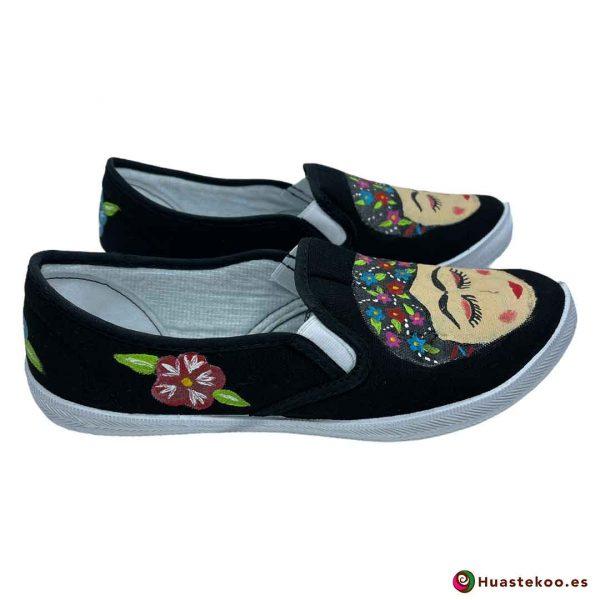 Comprar zapatos mexicanos Frida - Tienda de Regalos Mexicanos Huastekoo España - H00013 - 4