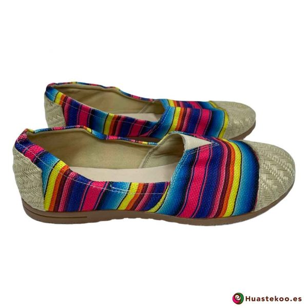 Comprar Zapatos Mexicanos Colorín Yute Natural H00126 a la venta en la tienda online de regalos mexicanos Huastekoo España - 4