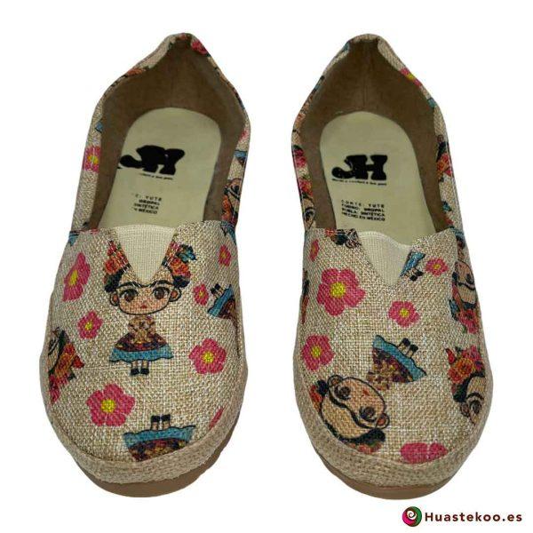 Zapatos mexicanos de Yute natural Frida - Tienda Mexicana Online - Huastekoo España - H00462